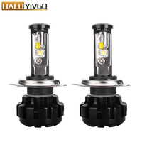 H4 9003 Hi/Lo Beam LED Headlight Bulbs Conversion Kit For CREE Chip 80W 9600LM 6000K White Fog Lights 12v 2 Year Warranty