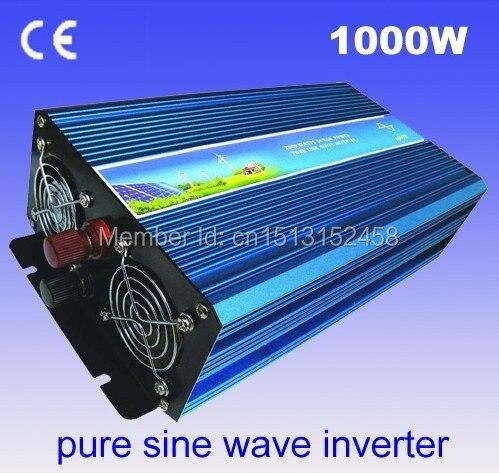 Best quality!!1000w (Peak 2000W)Pure sine wave inverter,home use invertor, dc 12V/24V to AC 110v/220v (CTP-1000W)