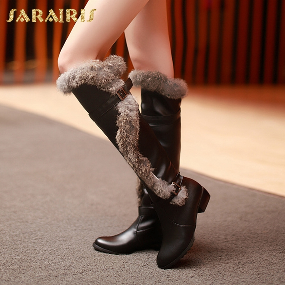 SARAIRIS New Arrivals Large Sizes 34-43 Winter Snow Boots Fashion Best Quality womens Shoes Woman knee-high BootsSARAIRIS New Arrivals Large Sizes 34-43 Winter Snow Boots Fashion Best Quality womens Shoes Woman knee-high Boots