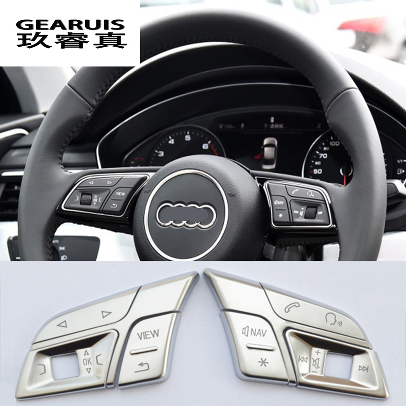 2018 Audi Q3 Interior: Car Styling Car Steering Wheel Buttons Trim Cover Stickers