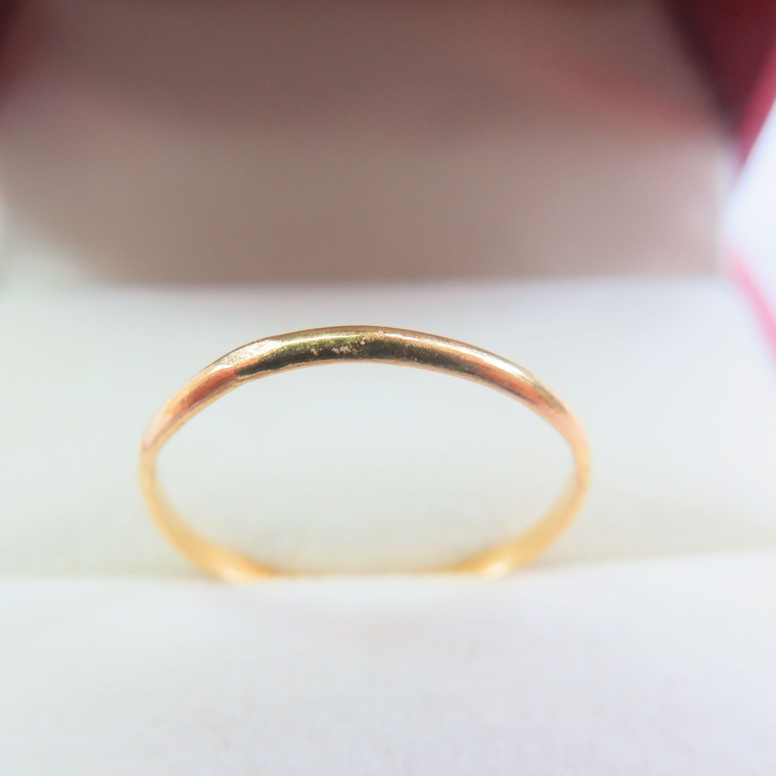 New 24K Yellow Gold Ring Womens Shiny Ring Band Size 7.75New 24K Yellow Gold Ring Womens Shiny Ring Band Size 7.75