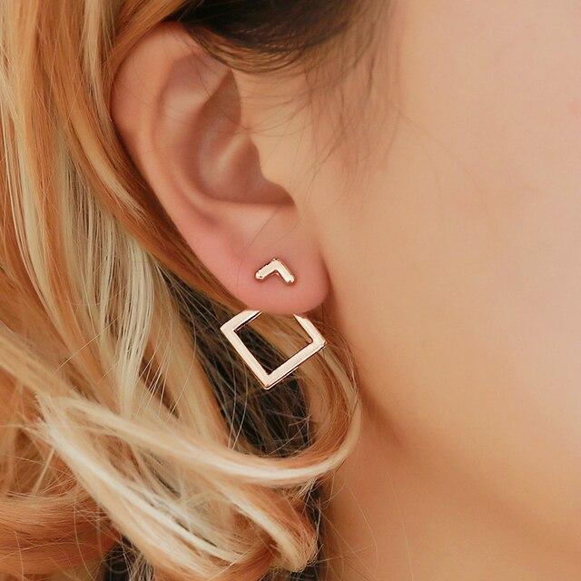 Creative Minimalist Geometric Drop Earrings For Women Fashion Simple Metal Square Girl Earing Female Jewelry Accessories Brincos