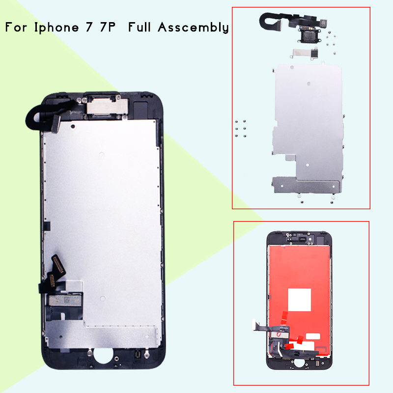 1PCS full Complete For iPhone 7 7 plus LCD with original Display Touch Screen Complete Assembly+Home Button+Camera1PCS full Complete For iPhone 7 7 plus LCD with original Display Touch Screen Complete Assembly+Home Button+Camera