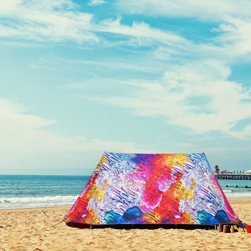 Beach Chair Shelter Portable Waterproof Windproof Folding Tent Anti UV Opaque Brown Tent Outdoor Furniture Fishing Shelter