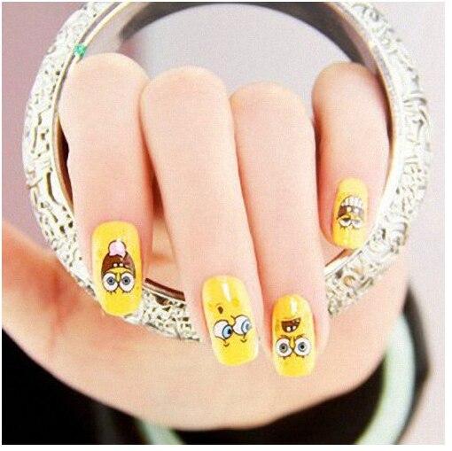 Nail Art Stickerssheetslot Lovely Cartoon SpongeBob SquarePants - Spongebob nail decals