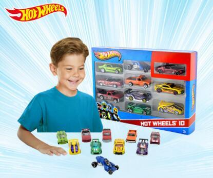 1: 64 mini modèle piste roues chaude ESS BSC 10 Pack De Voitures Jouets Pour Enfants Moulé Sous Pression Hotwheels 54886 modèles de voitures cadeau d'anniversaire Pour Enfant