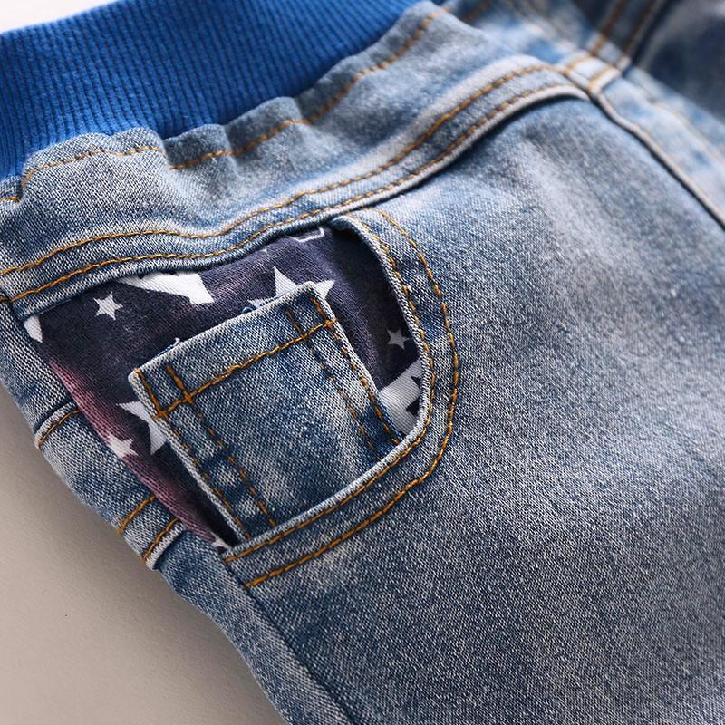 Kids Jeans Boys Girls Full Length Jeans Panty Panties Sring Autumn Cotton Fashion Casual Style Convenient Elastic Waist 4
