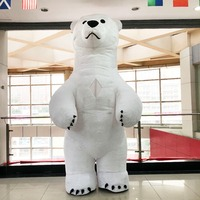New Style Big White Bear Inflatable Costume Party Cosplay Costume Advertising 2.6M Tall Customize Halloween Costumes For Adult