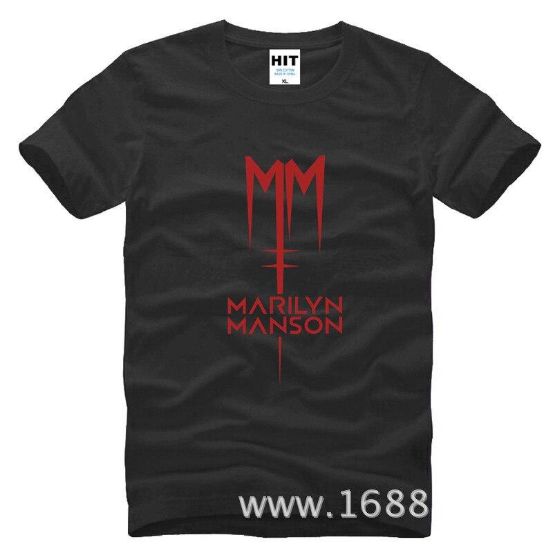 Classic Marilyn Manson Rock T-shirt Heren Heren T-shirt 2016 Korte - Herenkleding - Foto 2