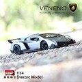 2017 New 1/24 Lamborghini-Veneno Diecast Model Metal Toy Car Boy Gift Red/Gray for Children Brinquedo Car Vehicle