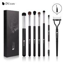 DUcare 7 PCS Eyeshadow Brush Set Lipat Eyelash Sisir Profesional Eye Makeup Brushes Alis Kosmetik Alat Kit