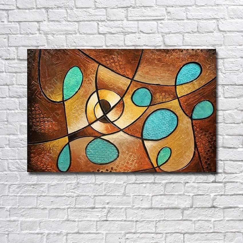 Hecho a mano abstracto cuchillo pintura moderno lienzo imágenes para ...