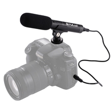 HAWEEL Professional Interview Condenser Video Microphone with 3.5mm Audio Cable for DSLR & DV Camcorder