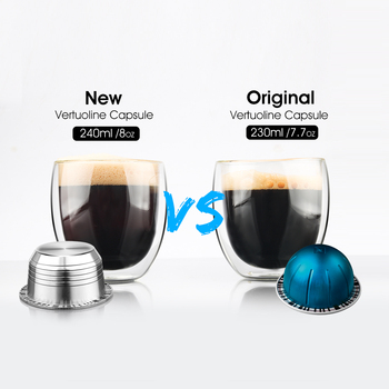 Á�ネスプレッソ Vertuoline GCA1 & Delonghi ENV135 ȩ�め替えコーヒーカプセルステンレス鋼再利用可能な Capsula Â�ーヒーポッドフィルター