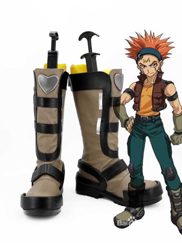 Yusei Fudo Brown Cosplay Boots Shoes Anime Party Cosplay Boots Custom Made Men Shoes Costumes & Accessories Shoes Sporting Yu-gi-oh