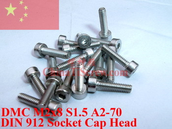 Stainless Steel screws M2x8 DIN 912 A2-70 Polished ROHS 100 pcs titanium screws m4x20 din 912 hex 3 0 driver polished