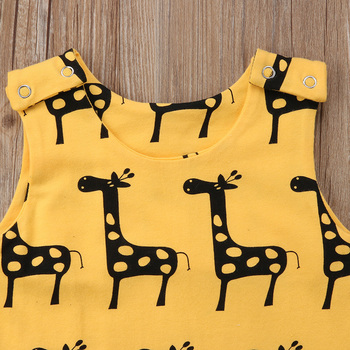 2018 Brand New 0-24M Cute Newborn Baby Boy Girl Sleeveless Cartoon Animal Cotton Romper Jumpsuit Outfits Summer Clothes 1