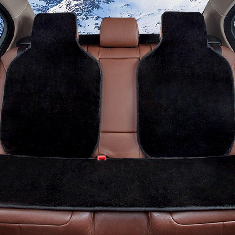 Бесплатная доставка 8 цветов 2018 искусственный мех милые чехлы Универсальный Автомобильный полное покрытие сидений заднем сиденье автомоби...