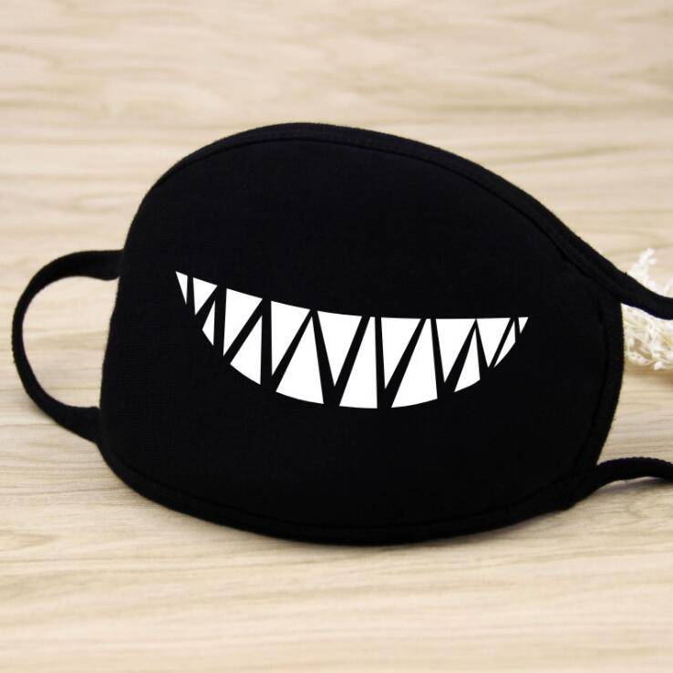 Unisex Personality Black Face Mask Outdoor Print Mouth Mask Anti Haze Dust Masks Filter Windproof Mouth-muffle Bacteria 7c1015 Soft And Antislippery Men's Accessories