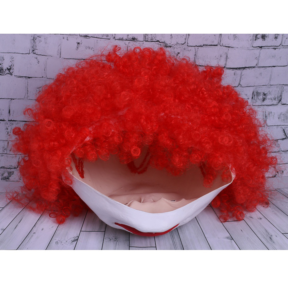 Movie Stephen King's It Mask Pennywise Mask Cosplay Masks Red Hair Clown Joker Halloween (1)