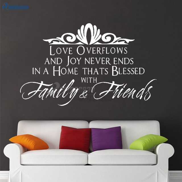 family & friends wall sticker quotes art home decor for living room
