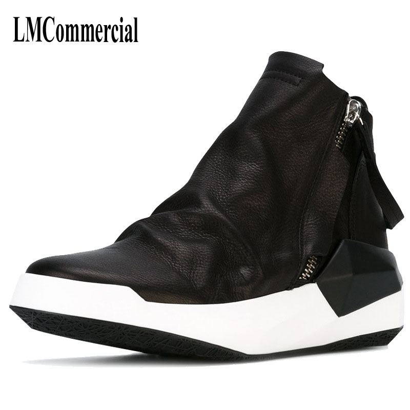 new winter men leather boots Martin Korean head low to help England zipper boots shoes breathable men casual boots, fashion martin boots men s high boots korean shoes autumn winter british retro men shoes front zipper leather shoes breathable