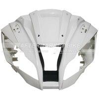 100% натуральная ABS Пластик передний обтекатель головы для Kawasaki ZX10R ZX 10R 2011 2012 Верхний обтекатель нос Cowling Новый