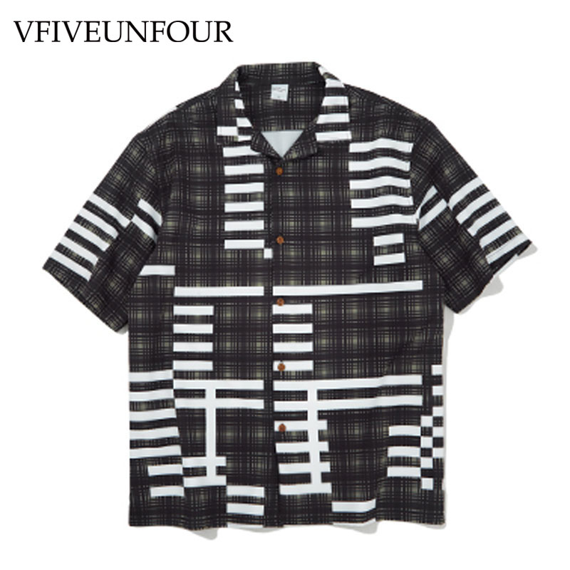 VFIVEUNFOUR Loose Print Shirt 2019 New Arrival Summer Hawaiian Beach Harajuku Casual Skateboard Oversized Shirts hot selling