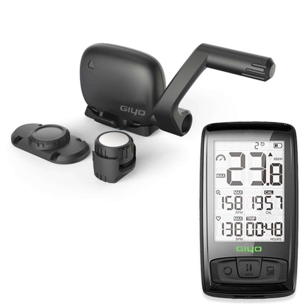 2 5 Inch Wireless Bike Computer USB Rechargeable Bike Cycling Computer with Cadence Sensor Bicycle Speedometer