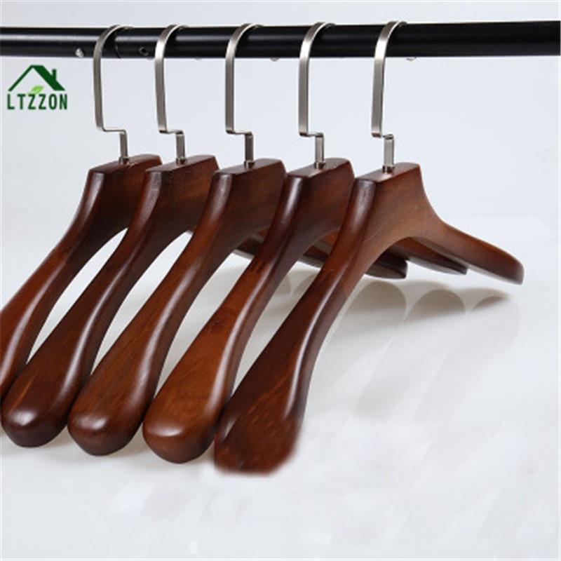 1Pc Fashion High-grade Retro Solid Wood Clothes Dry Hanger Home Anti-skid Storage Clothes Racks ...