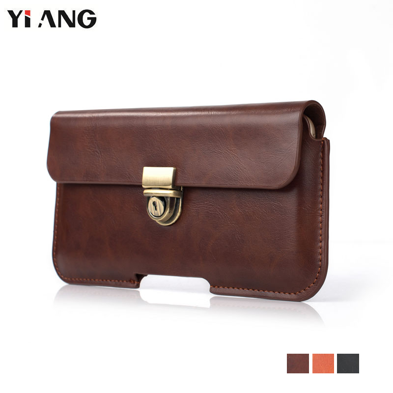 YIANG Small Belt Pouch For Men Fashion Waist Packs Mobile Phone Bags Pu Leather Phone Pouch Casual Fanny Pack 4.7~6.3 Inch 2018