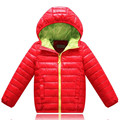 Crianças Sólidos Crianças Quente Casacos Crianças Jaquetas Para Meninos & Meninas Jaqueta Com Capuz Casacos meninas Roupas de Inverno meninos casaco
