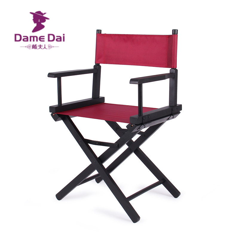 Wooden Foldable Directors Chair Canvas Seat and Back