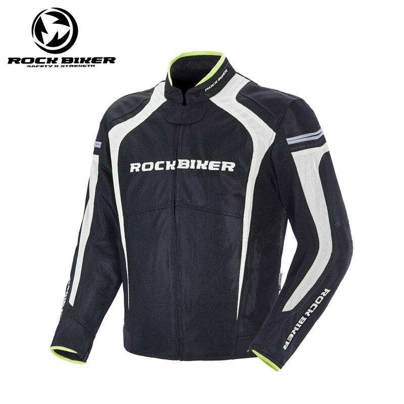 Veste réfléchissante de moto de motard de roche vestes de protection d'armure de moto vestes de protection de corps d'équitation en plein air de moto