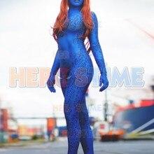 3D печатных Мистика костюм из лайкры и Косплэй Люди Икс костюм супергероя, зентай, костюм кошки, для женщин; женская свадебная обувь; с украшением в виде кристаллов женские