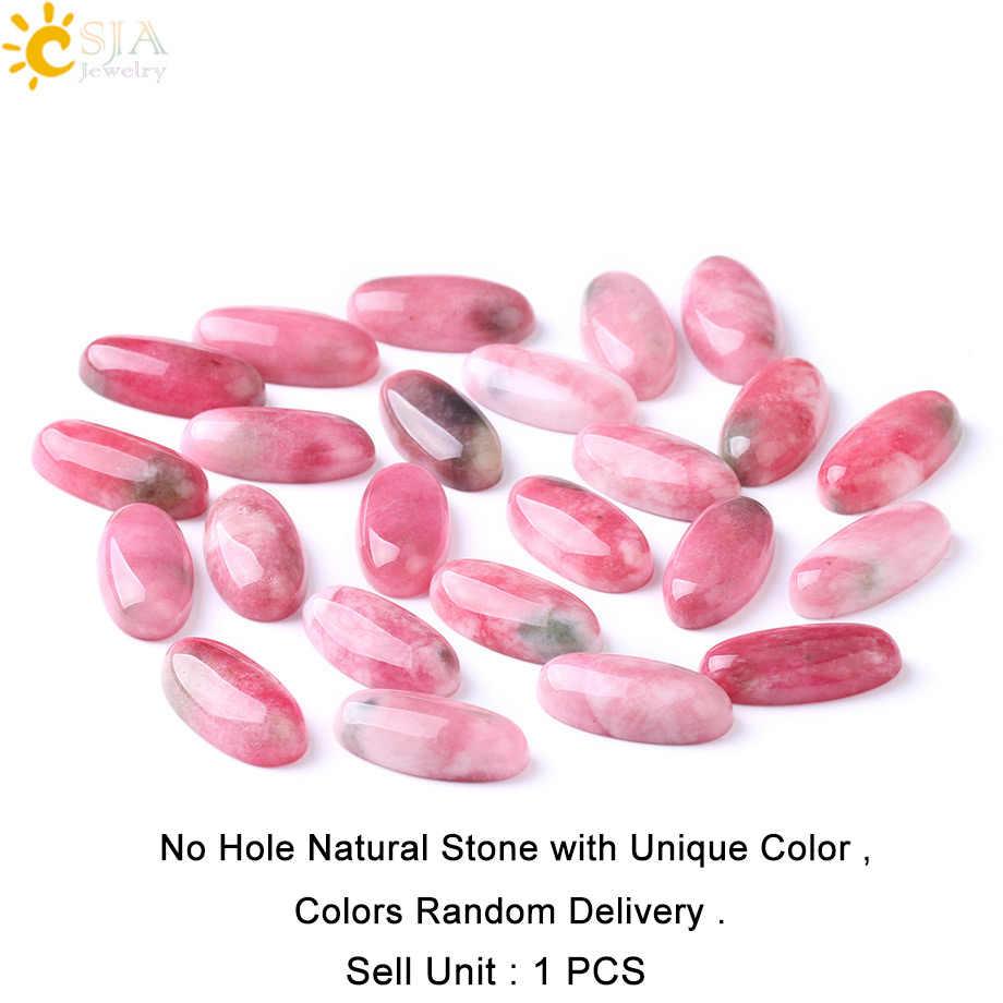 CSJA 100% naturel réel ovale en vrac Semi pierre gemme sans trou percé Chakra Rose perle rouge pour les femmes bricolage travail manuel fabrication de bijoux F274