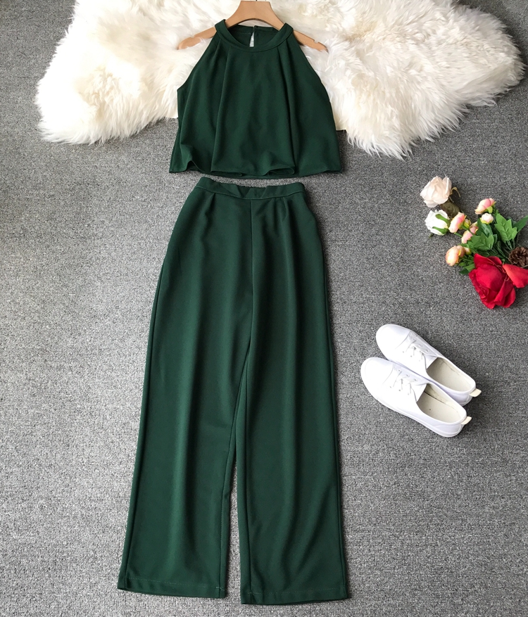 HTB13agqVrPpK1RjSZFFq6y5PpXaE - two piece set women fashion sexy short top and long pants casual sleeveless Elastic high waist female summer festival clothing