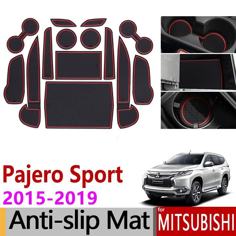 Tapis anti-dérapant en caoutchouc pour tapis de porte pour Mitsubishi Pajero Sport 2015 2016 2017 2018 2019 Montero Shogun accessoires autocollants