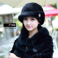Ms mink hat fur hats The sable Qiu dong the day fur berets Han edition of hat
