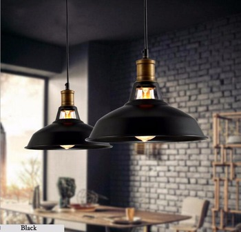 Vintage LED Pendant lamp with e27 Edison bulb,Industrial Retro Pendant lights for Kitchen,Dining room Home Black,white 110/220V