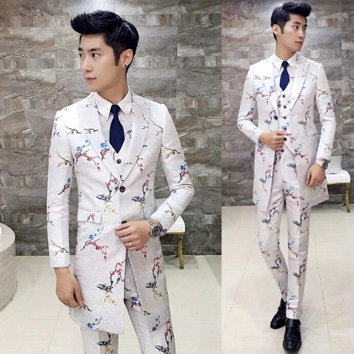 Online Get Cheap Korean Slim Fit Floral Suit -Aliexpress.com ...