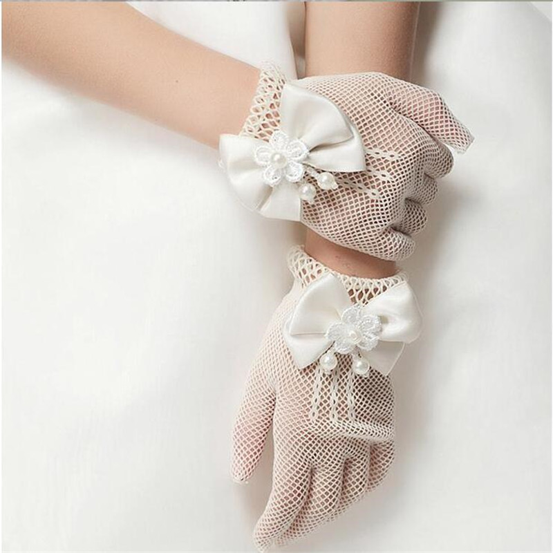 Girl/'s Satin Elbow Length Glove Communion//Christening//Confirmation//Pageant//Dance