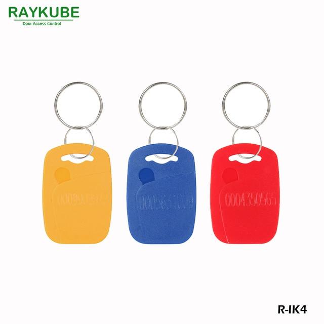 RAYKUBE R-IK4 Square Keyfob 50Pcs/Lot 125Khz RFID Proximity Keyfobs For Door Access System Three Colours