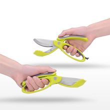 Multi-function Double Blade Scissors Kitchen Salad Cutting Tool Soft Ergonomic Handle Durable Scissors