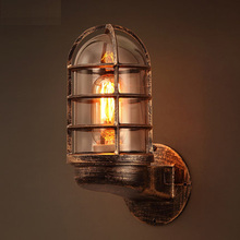 Loft American Vintage Lamp Creative Wall Light Contracted Metal Wall Lights Personality Wall Lamp Vintage Art Deco Lighting