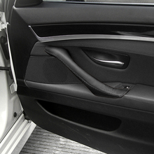 For BMW 5 Series F10 F18 2011 2012 2013 2014 2015 2016 2017 1PC Car Door Panel Pull Handle Hand Sewing Microfiber Leather Cover