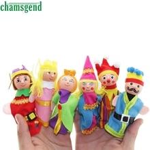 CHAMSGEND 6PCS 손가락 장난감 손 인형 크리스마스 선물 실수로 함선 S30을 말합니다