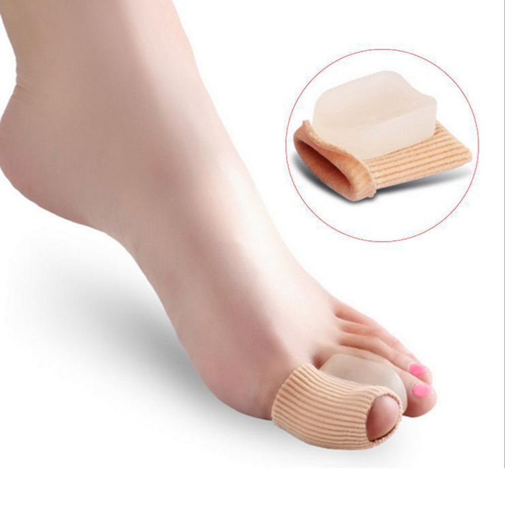 1 pc Soft Silicone Gel Tube Toe Separators Spacers Alignment Bunion Pain Relief Tools Finger Toe Protector Foot Care Tool
