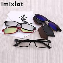 IMIXLOT солнцезащитные очки с магнитным креплением Магнитная зеркальная застежка на очки для мужчин флип поляризованные очки для близоруких женщин мужчин рецептурная оптика