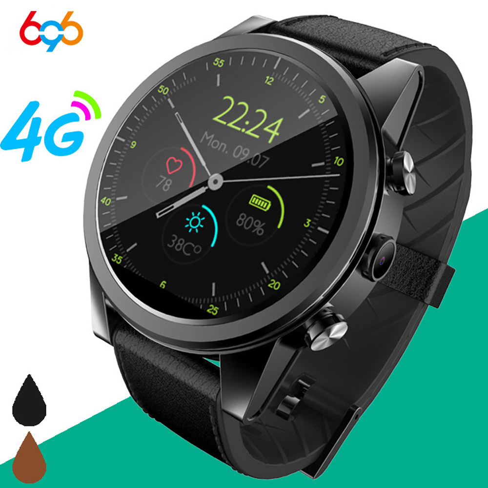 696 X360 4G LTE Android 7.1 <font><b>Smart</b></font> <font><b>Watch</b></font> 1.6inch big Screen Round WiFi GPS Sim Card 4G Smartwatch Phone Heart Rate Monitor Camera image